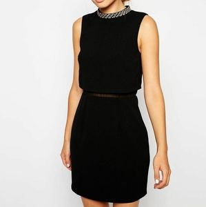 NWT! Asos Embellished Stand-Up Neck Midi Dress